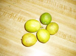 Key limes are smaller, rounder, and yellower than regular limes.